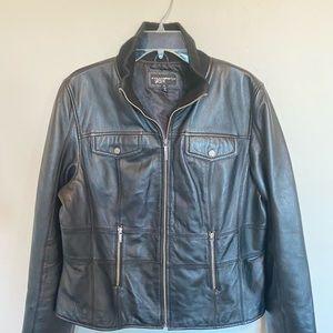 Black River Black Leather Jacket
